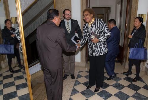 18.12. Secretária Executiva recebe Ministro da Justiça de Timor-Leste