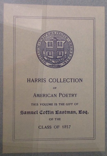Penn Libraries 811W YD: Bookplate/Label