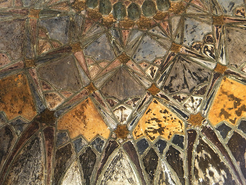 Ceiling of the Chini Ka Rauza, another architectural masterpiece, a mausoleum containing the tomb of a nobleman