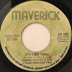 DENNIS COFFEY & THE LYMAN WOODARD TRIO:IT'S YOUR THING(LABEL SIDE-A)