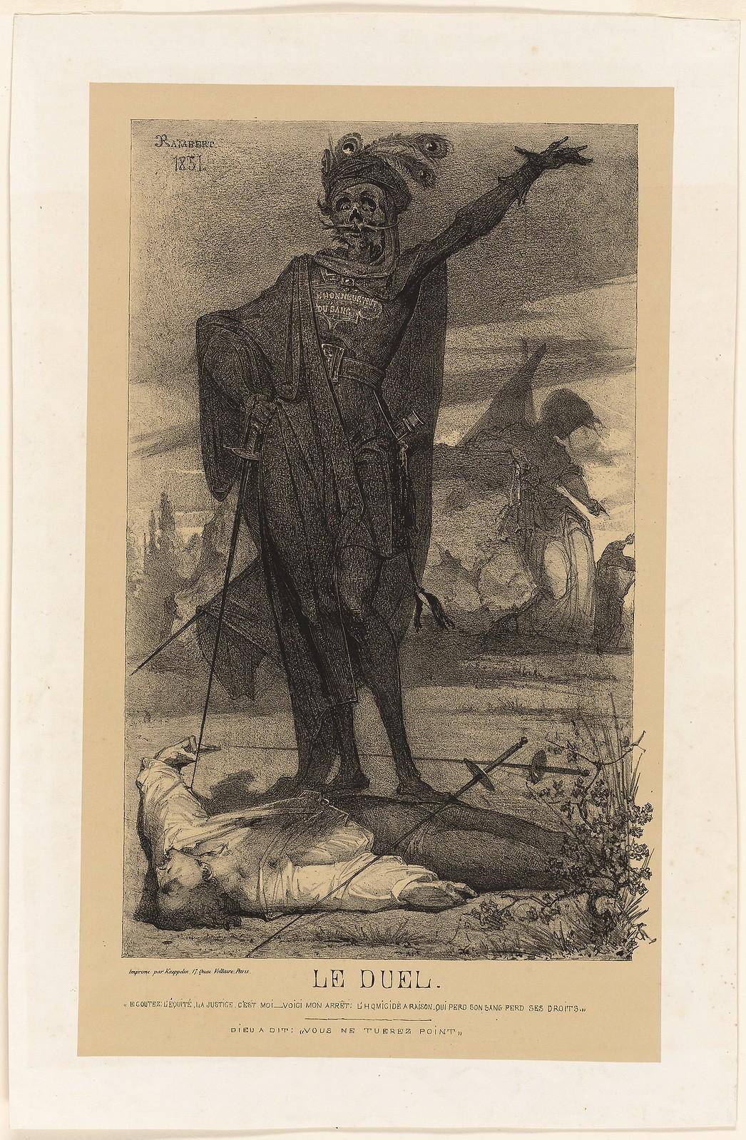 Charles Rambert - The Duel, 1851