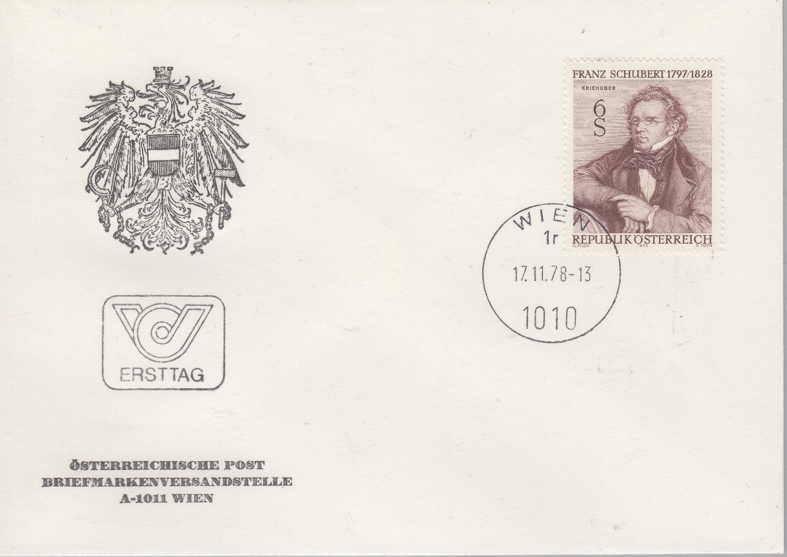 Austria - Scott #1095 (1978) first day cover