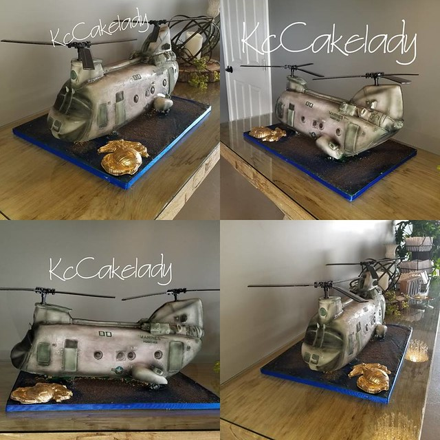 Helicopter Cake by Kim Shelton Marks of KcCakelady Custom Cakes LLC