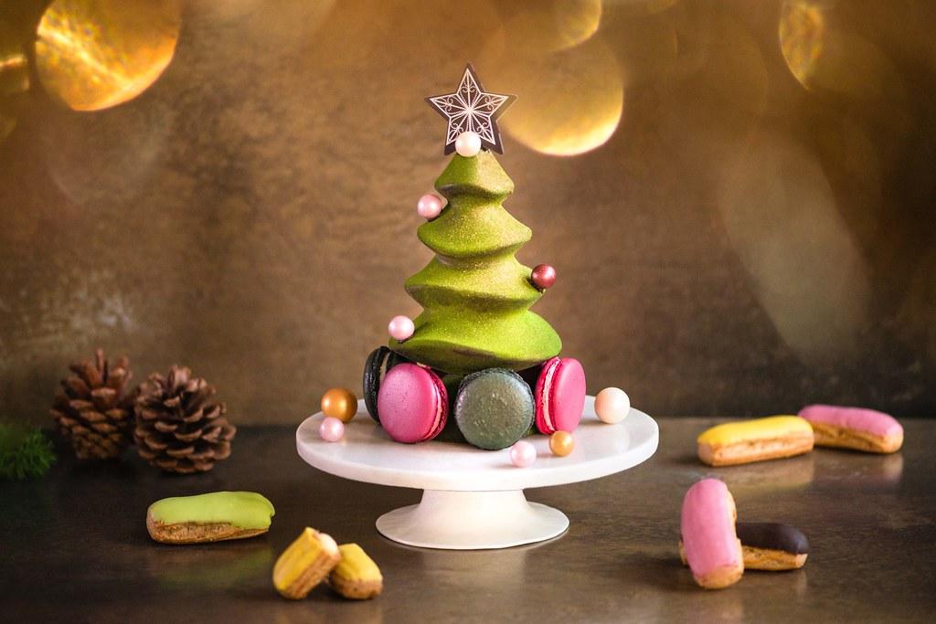 Macaron树和圣诞柑橘Eclairs
