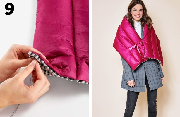 DIY Quilted Scarf Steps 9 10