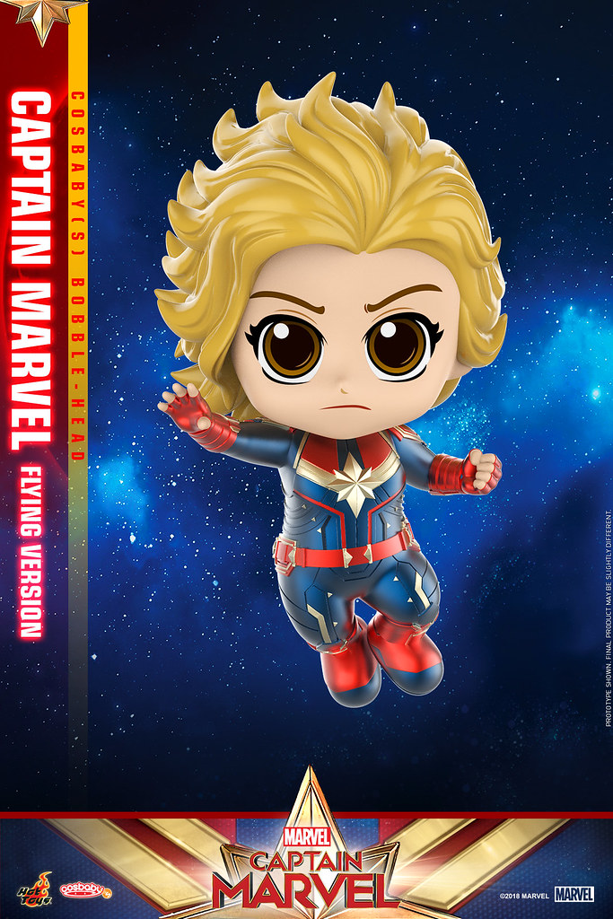四種驚奇一次滿足!! Hot Toys - COSB542 - 545 - Captain Marvel- Cosbaby (S) Bobble-Head Series