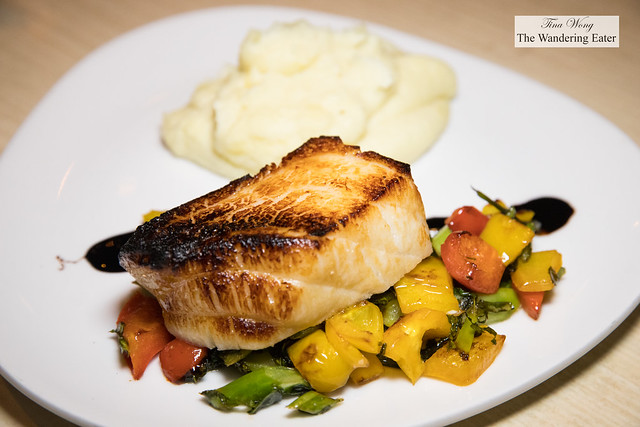 Miso Chilean Sea Bass, Chinese broccoli & sweet coconut potato mash