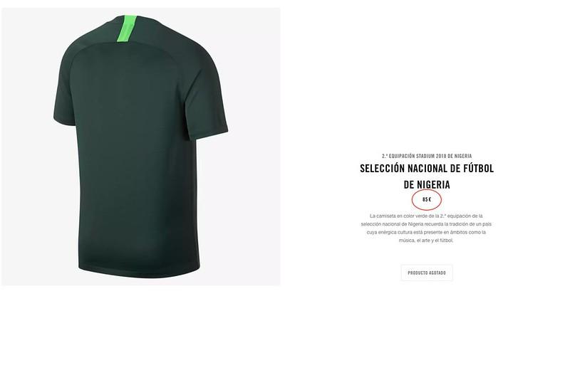 camiseta nigeria nike