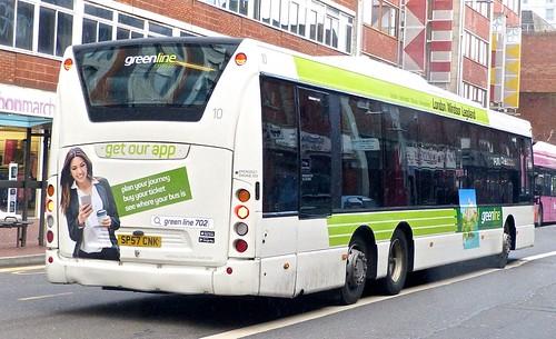 SP57 CNK 'Readingbuses' No.10 'greenline'. Scania Omnilink K170UB6 /2 on Dennis Basford's railsroadsrunways.blogspot.co.uk'
