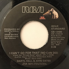 DARRYL HALL & JOHN OATES:PRIVATE EYES(LABEL SIDE-B)