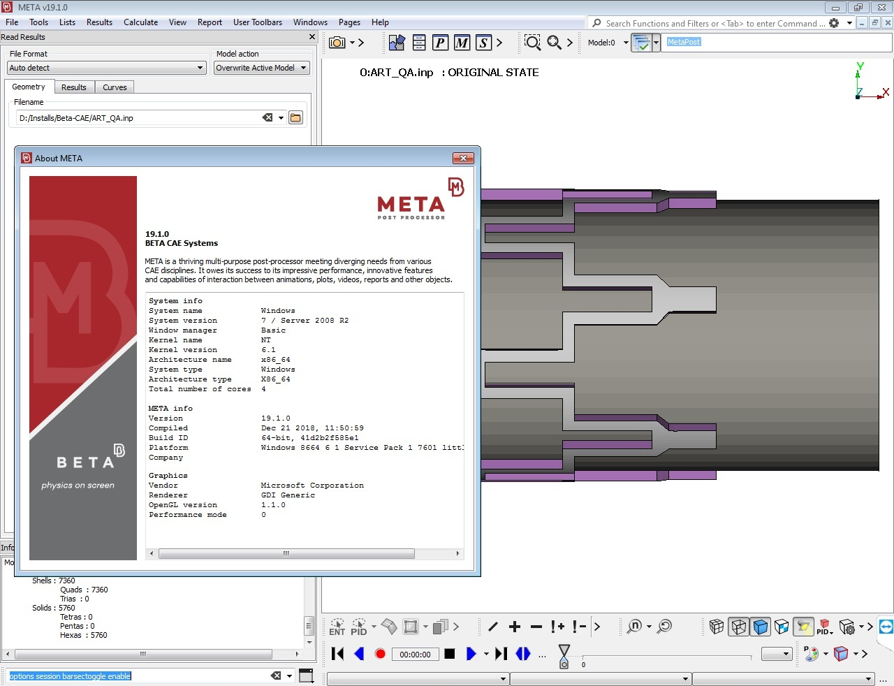 Working with BETA CAE Meta Post 19.1.0 full cracked
