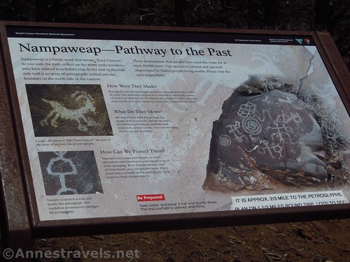 Sign at the Nampaweap Trailhead, Grand Canyon-Parashant National Monument, Arizona