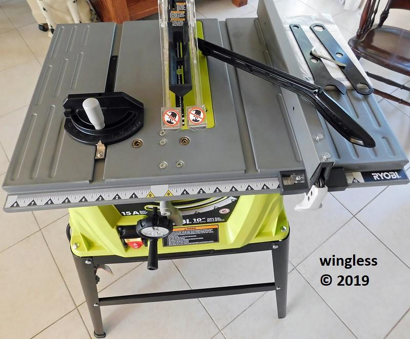 Wingless Ryobi Rts10g 10 15a Table Saw Ryobi Power