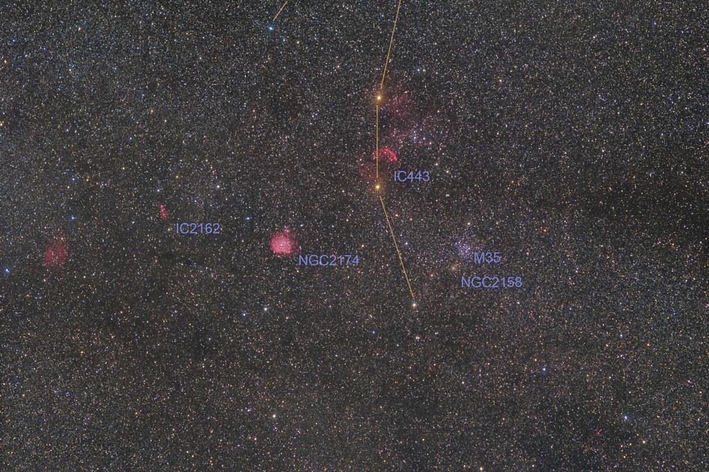 Around a foot of Castor (Gemini)