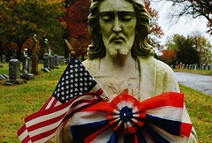 Patriotic Jesus at Calvary
