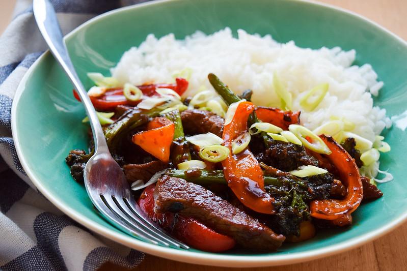 Saucy Korean Steak, Pepper & Broccoli Stir Fry