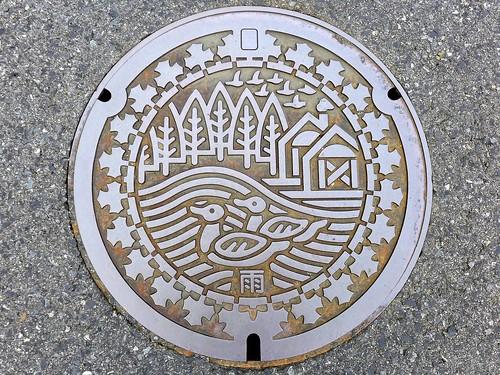Uenohara Yamanashi, manhole cover 2 (山梨県上野原市のマンホール2)
