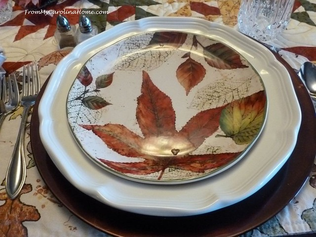November Leaves Tablescape at FromMyCarolinaHome.com