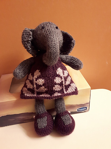 Linda has added the Girl Elephant by Julie Williams to her menagerie!