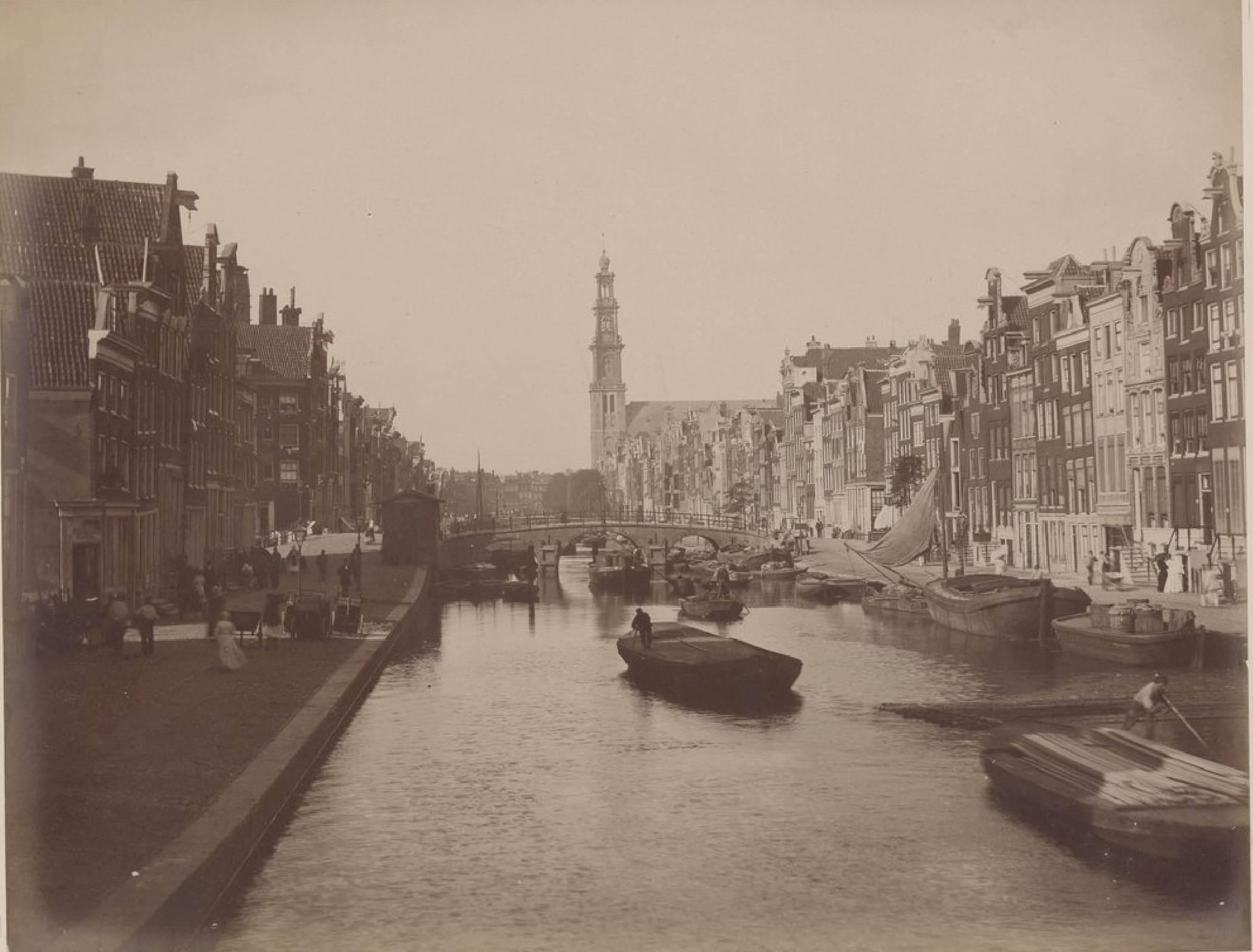 Амстердам. Канал Принсенграхт, 15 мая 1888