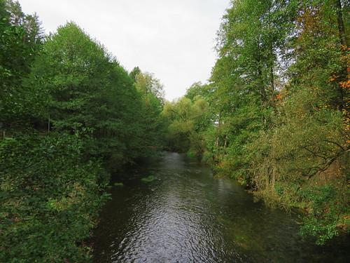 20170928 01 381 ostbay Brücke Bach Herbst Wald Blätter