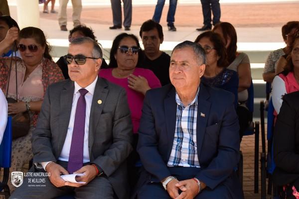 Alcalde Sergio Vega Venegas, concejales y otras autoridades, inauguran posta rural de Michilla. Fotos Claudio Avendaño.