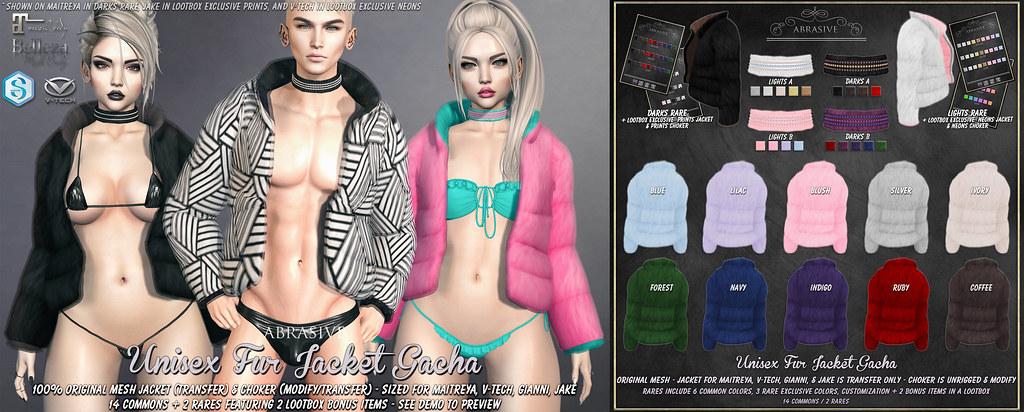 Unisex Fur Jacket Gacha @ Lootbox Gacha