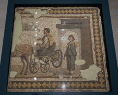 Roman mosaic with a departure scene, from Antioch