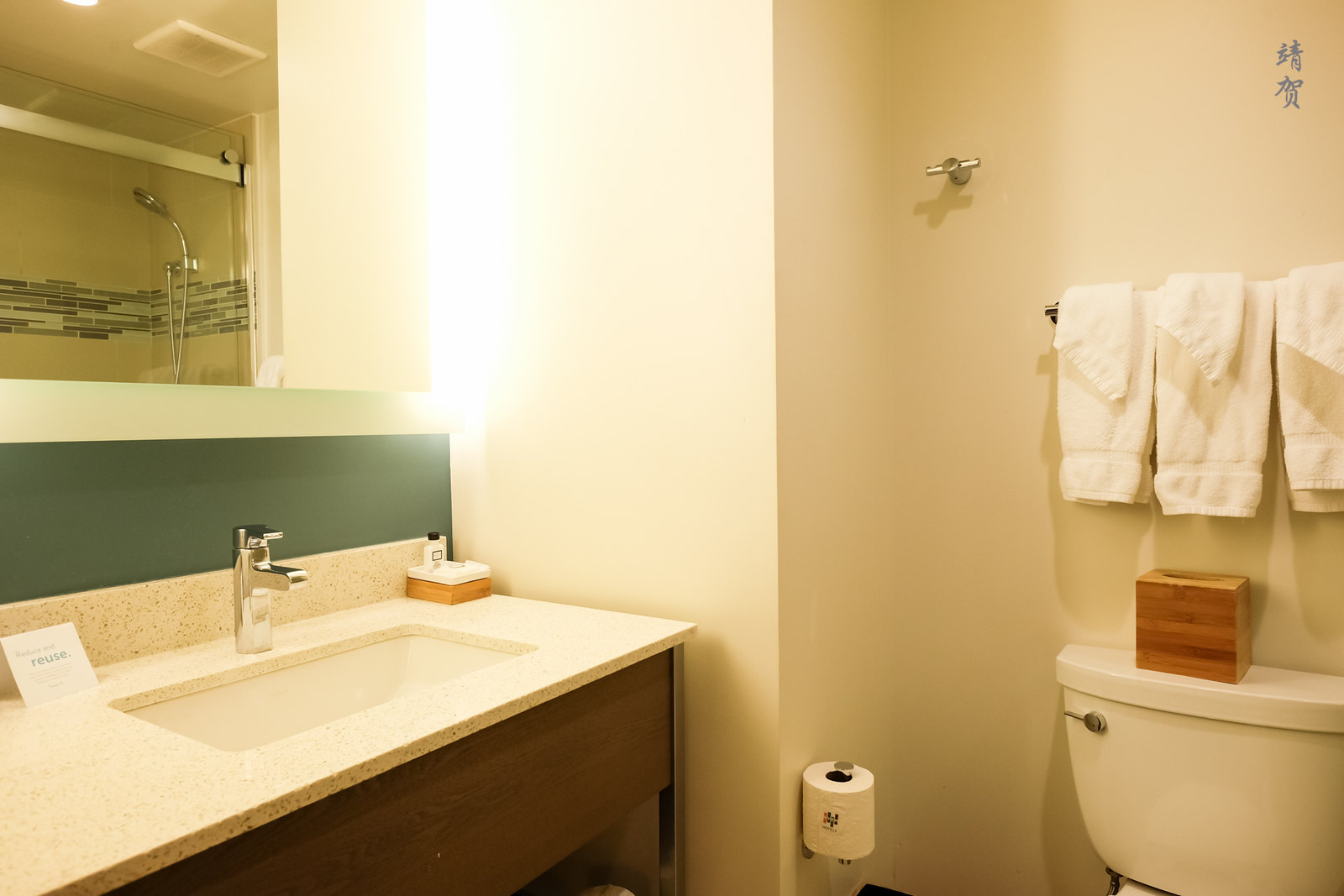 Countertop in the bathroom