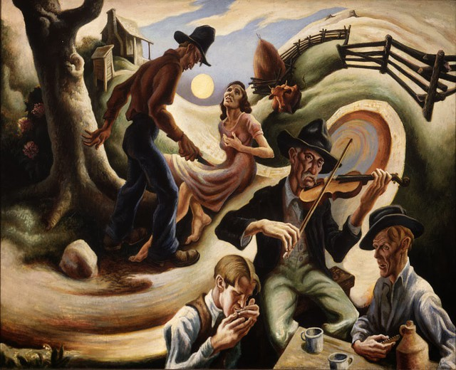The Ballad of the Jealous Lover of Lone Green Valley – Thomas Hart Benton, 1934