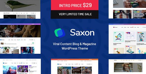 Saxon v1.2.7 – Viral Content Blog & Magazine Theme