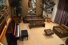Lounge area below