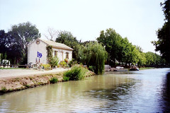 The Canal du Midi near Mirepeisset, 12th September 1994 - Photo of Mirepeisset
