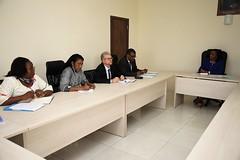 Durant les échanges entre a délagation de la FAO & le Ministre de la Mer et de la Pêche -© FAO