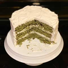Made a green velvet cake for Saint Patrick's Day.