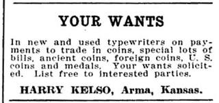 NUM Dec 1919, 514 Kelso ad