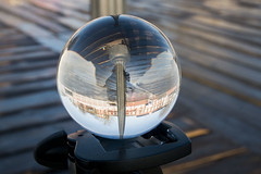 Pier lamp and floor lensball
