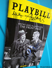 "20170105_06 My ""Front page"" program with siggies from Jefferson Mays, Christopher McDonald, Dann Florek, & Holland Taylor... I think :D"