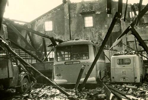 incendi nau Ajuntament Valls 1964