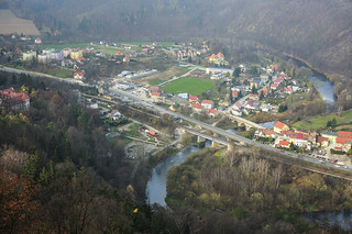 Town and river