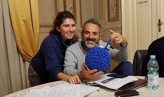 L'assessore Azzurra Acciani con il consigliere comunale Vito Mazzei