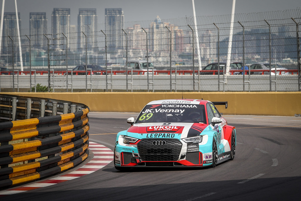 69 VERNAY Jean-Karl, (fra), Audi RS3 LMS TCR team Audi Sport Leopard Lukoil, action during the 2018 FIA WTCR World Touring Car cup of Macau, Circuito da Guia, from november  15 to 18 - Photo Alexandre Guillaumot / DPPI