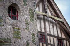 stone and wood, contrasts at the lovely Château de Saint Germain de Livet, Pays d'Auge, Normandy, France