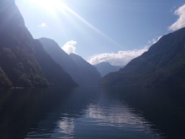 Fahrt durch den Sognefjord