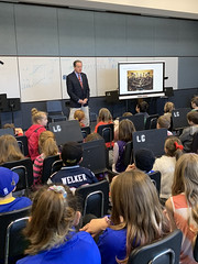 Rep. Piscopo and La Garda's third grade class addressed various topics ranging from the different branches of government, matters within the legislature that Rep. Piscopo worked on throughout his tenure, what it's like to be a state representative, and the group also held a mock debate.