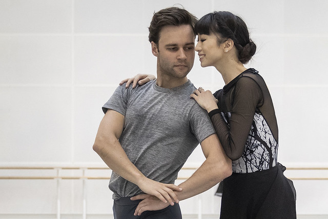 Alexander Campbell and Akane Takada in rehearsal for Don Quixote, The Royal Ballet © 2019 ROH. Photograph by Andrej Uspenski