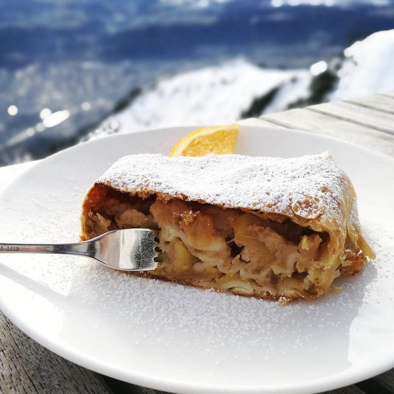 This is a picture of apple strudel