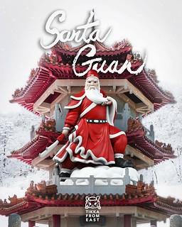 義薄雲天的美髯聖誕公?! Mighty Jaxx × Tik Ka from East【聖誕關老爺】Santa Guan 8吋搪膠人偶作品