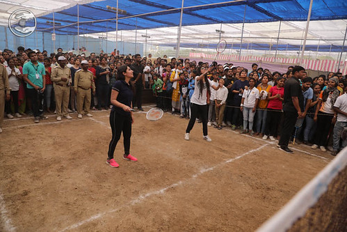 Rev Renuka Ji playing badminton