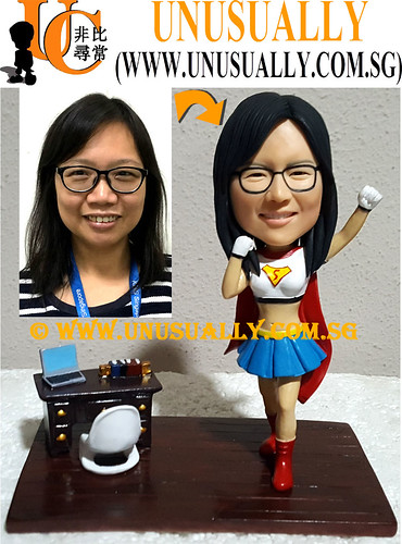Custom 3D Super Woman At Office Figurine - © www.unusually.com.sg